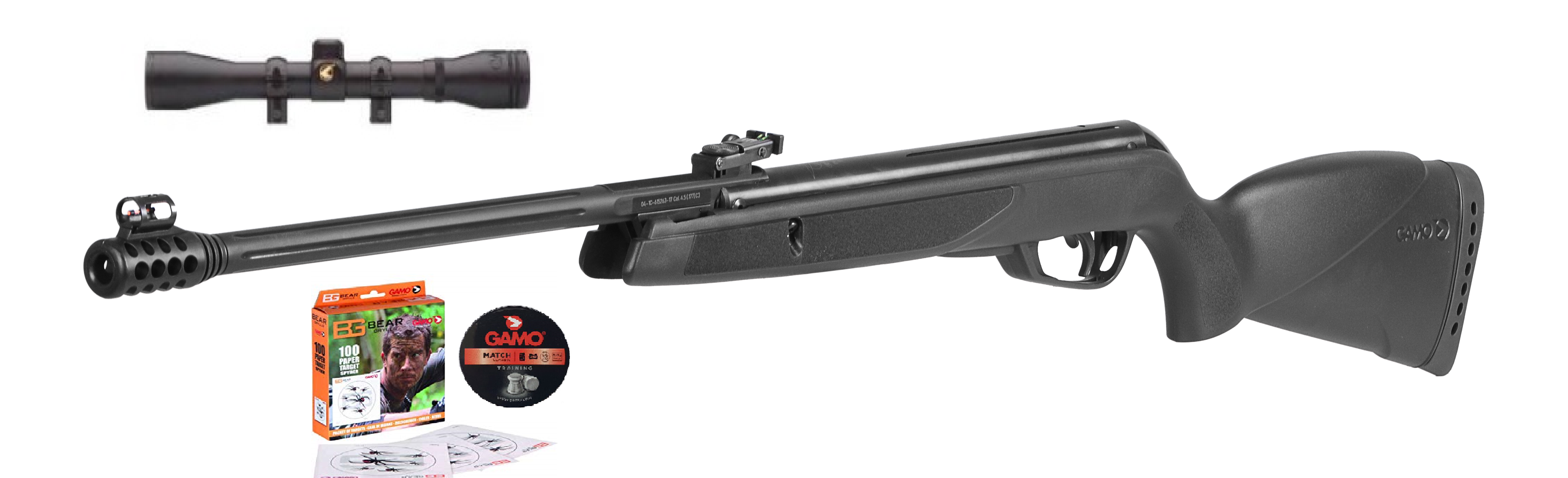 Gamo BLACK BEAR cal.4,5mm + puškohled 4x32