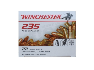 22 LR-WINCHESTER  235 ROUNDS 36gr HP